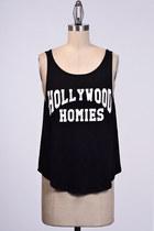 Hollywood Homies Black Tank