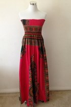 Red Scene African Maxi Dresses
