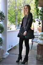 black lace up boots Chicwish boots - black mini skirt WOAKAO skirt
