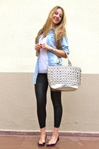 periwinkle denim new look shirt - silver Forever New bag