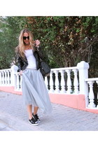 black Fashionthebox jacket - black oversized vjstyle bag - zeroUV sunglasses