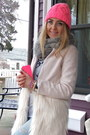 Ivory-fur-sheinside-coat-hot-pink-knitted-h-m-hat-silver-chicwish-sweater