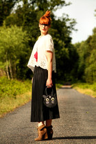 Zara boots -  Children brand   bag - vintage skirt - H&M top