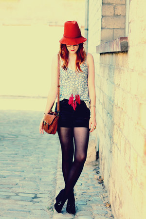 Zara hat - Cheap Monday shorts - new look wedges