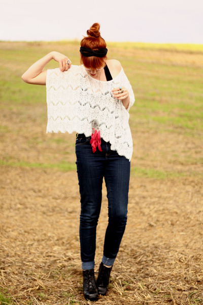 lace top Chicwish blouse - romwe heels