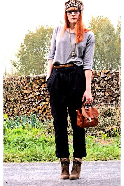 vintage hat - Pimkie top - vintage pants