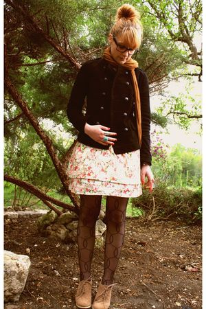 floral dress - Naf Naf jacket