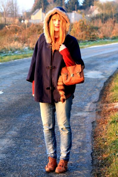 Pimkie coat - new look shoes - Zara jeans - Pimkie sweater