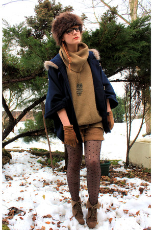 united colors of benetton sweater - Zara boots - Pimkie coat - H&M hat