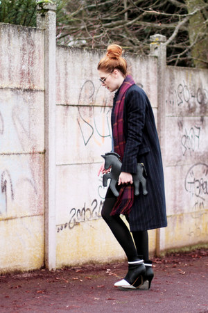 licorne Choies bag - Zara coat - violet stripes PERSUNMALL scarf