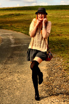 new look tights - Mango sweater - vintage shorts - new look wedges