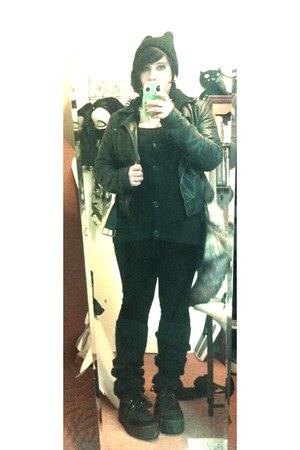 H&M jacket - H&M leggings - Forever 21 cardigan