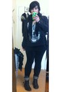 Black-american-eagle-boots-black-forever-21-jacket-black-hot-topic-shirt
