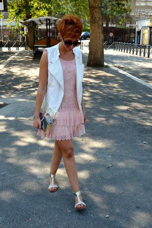Promod dress - Bershka bag - George Gina & Lucy sunglasses - Promod vest