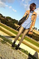 H&M shirt - romwe coat - H&M cardigan