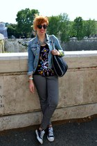 Camaïeu top - H&M jacket - Stella McCartney bag - Converse sneakers