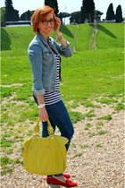 Pimkie t-shirt - Pull and Bear jeans - H&M jacket - George Gina and Lucy bag
