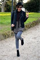 Bershka jeans - thepusherco jacket - thepusherco shirt - Zara heels