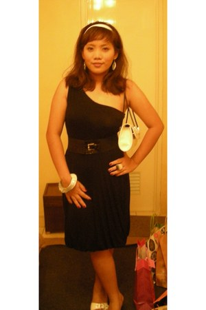 Forever 21 bracelet - black Mango dress - white Dorothy Perkins bag