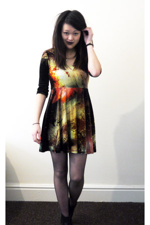 cosmic velvet evil twin dress