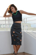 faux leather Alma Mei skirt