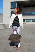 Zara jacket - Mango jeans - Mango sweater - Phillip Lim for Target bag