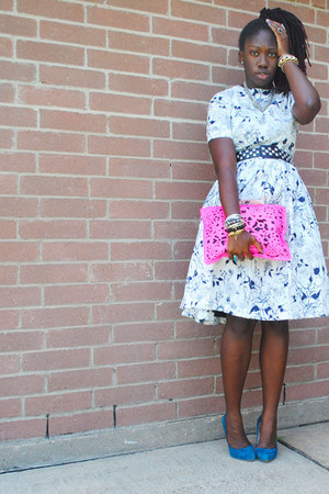 unknown brand dress - asos bag - studded Forever 21 belt
