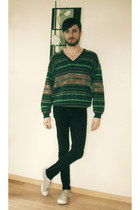 sweater - Bensimon shoes - skinny jeans pull&bear jeans