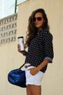 American-apparel-bag-zara-shorts-oysho-blouse