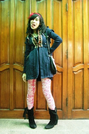 coat - Self Made leggings - Online Shop boots - lipstickeater - lipstick eater