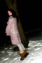 purple Twinkle By Wenlan sweater - silver Rebecca Taylor tights - brown Ugg Adir