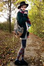 Camel-backpack-diy-bag-cream-wool-sheinside-sweater