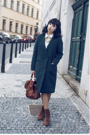 dark green H&amp;M Trend coat