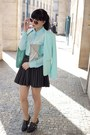 Aquamarine-h-m-blazer-black-zara-wedges-black-h-m-skirt