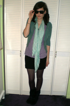blue Mossimo for Target sweater - purple Forever21 t-shirt - black H&M skirt - b