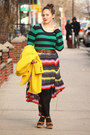 Yellow-wool-blend-j-crew-coat-black-hue-tights-green-forever-21-jumper
