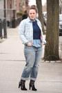 Black-embroidered-zara-boots-periwinkle-boyfriend-jeans