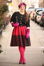 Bubble-gum-beret-topshop-hat-hot-pink-hue-tights-hot-pink-wool-vintage-skirt