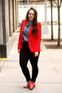 Ruby-red-studded-zara-boots-black-skinny-zara-jeans-red-zara-blazer