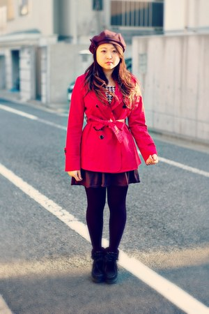 red trench agnes b coat