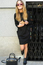 kate spade bag - Deichmann boots - COS dress - Knockaround sunglasses