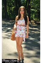 white pull&bear dress - bubble gum pull&bear dress