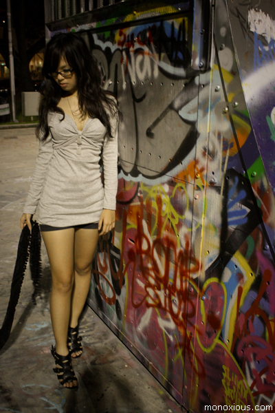 Levis glasses - dress - shorts - scarf - Charles & Keith shoes