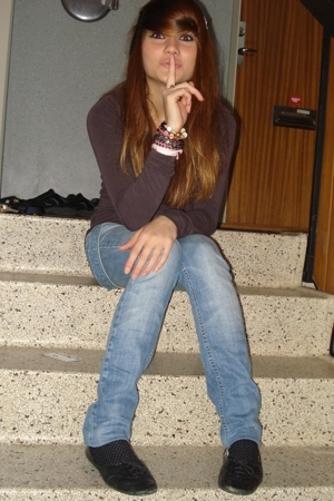from Italy blouse - Diesel jeans - bracelet - vagabond shoes - tights