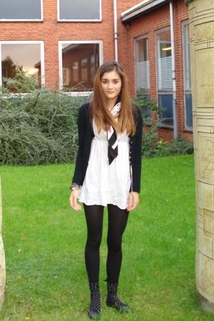 Bik Bok dress - scarf - Louis Vuitton - jacket