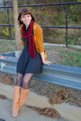 Tan-seychelles-boots-black-vintage-dress-black-betsy-johnson-tights