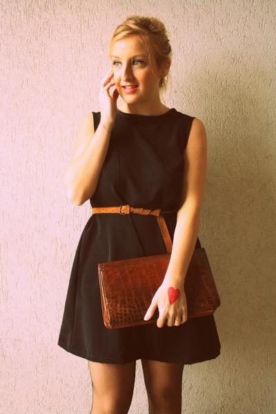 by me dress - vintage bag - no brand belt