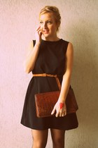 by me dress - vintage bag - no brand belt