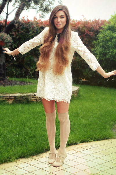 White-collared-storets-dress-beige-over-the-knee-asos-socks