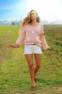 Golden-days-sweater-studded-bik-bok-shorts-zara-loafers